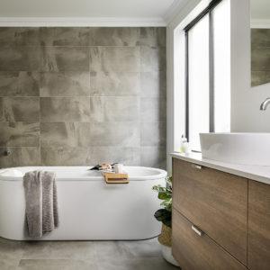 Lavare Bathroom Renovation Modern Grey Grain 01
