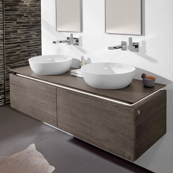 artis round countertop basin lifestyle