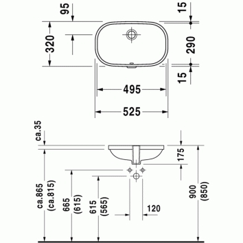d code undercounter basin 033849 tech