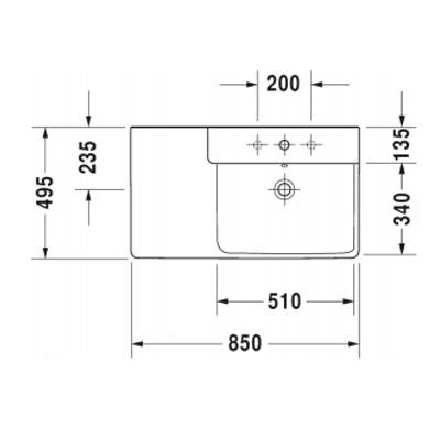 p3 comforts washbasin 233385 spec 1