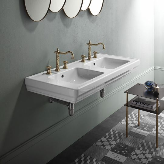 rona wall hung double basin lifestyle A98.91.125 A98.91.125.H