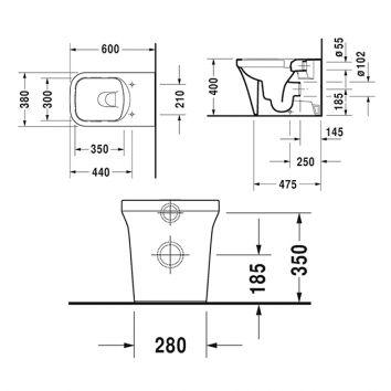 p3 comforts floorstanding toilet 216609 spec