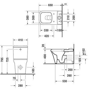 p3 comforts toilet suite 216709 spec