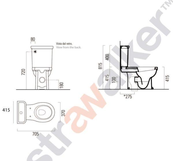 rona toilet suite A98.75 spec