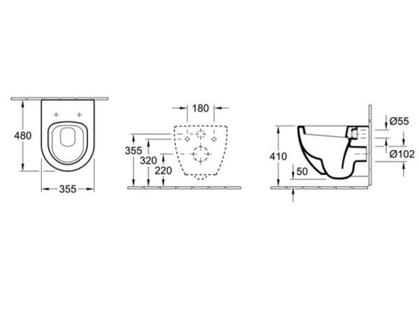 subway compact wall hung toilet spec