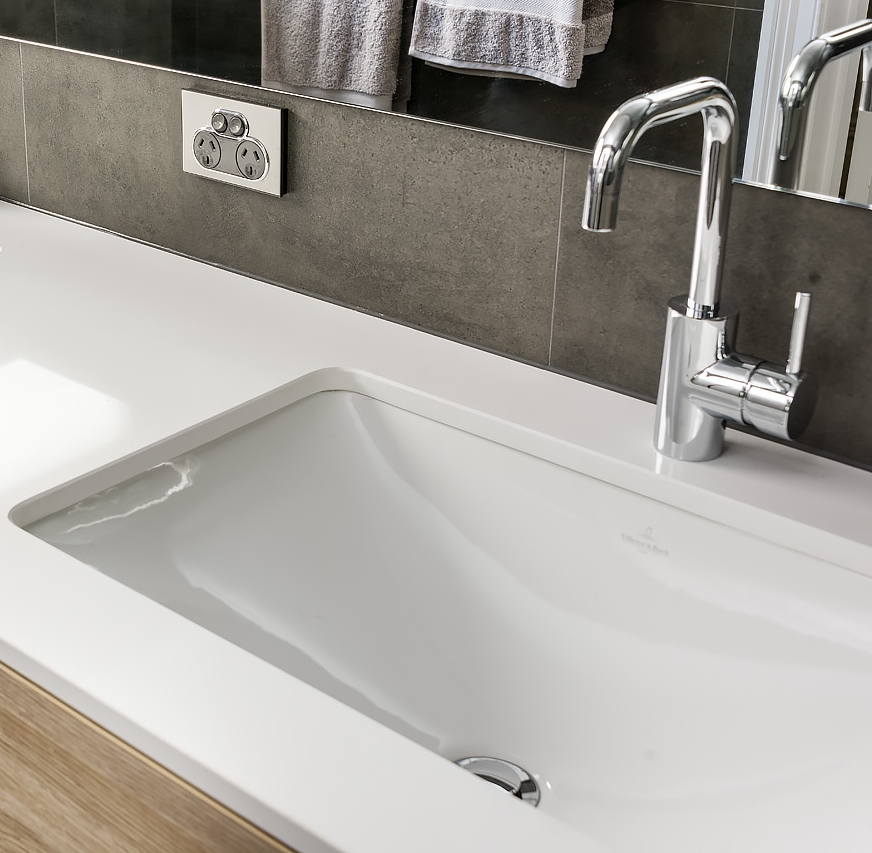 Lavare Bathroom Reno Nth Perth Icon Square Basin Mixer