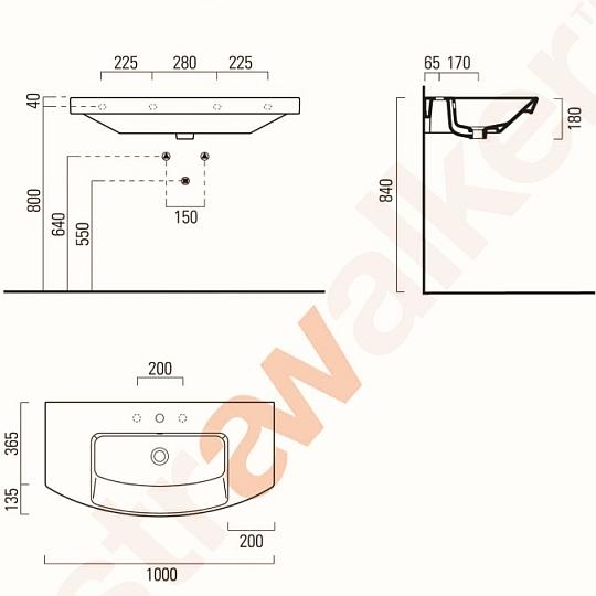 astra walker modo basin 1000 A92.91.100 spec