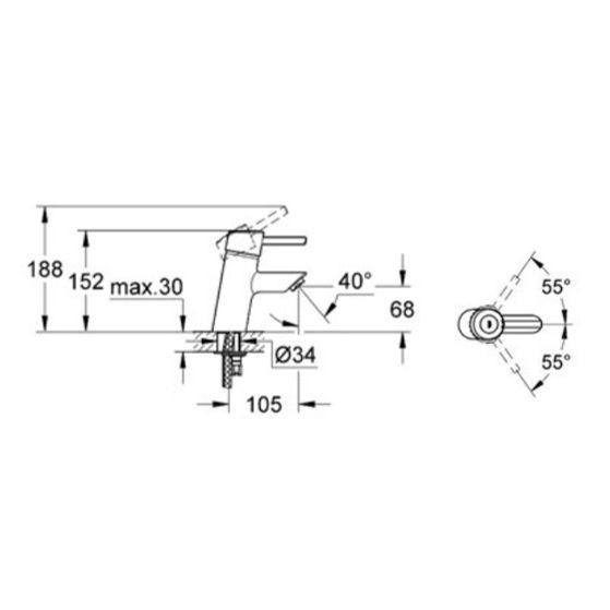 grohe feel basin mixer spec e1545013359145