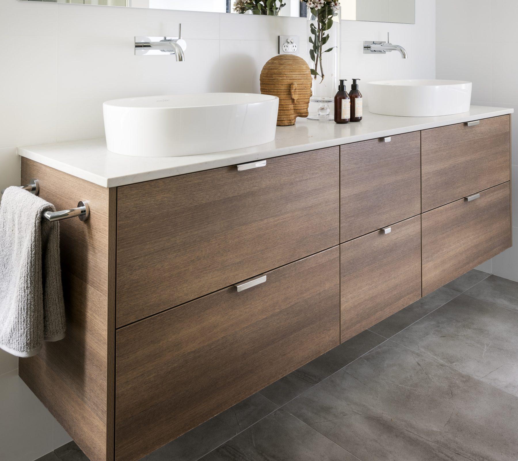 Semi Custom Modern Wall Hung Bathroom Vanity