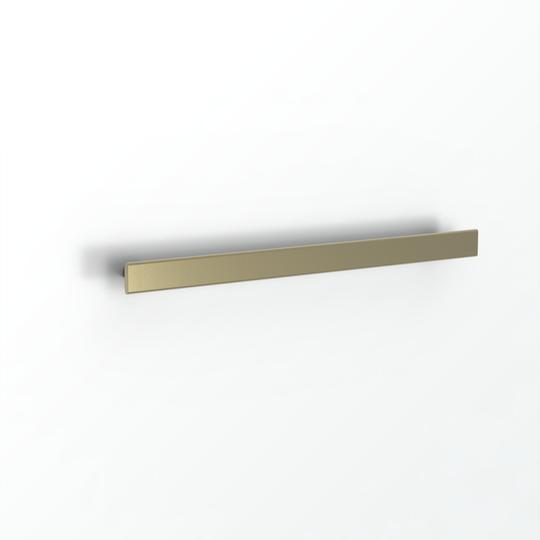 Avenir Folio Heated Towel Rail Brushed Brass