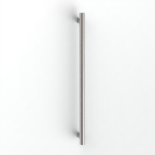 Avenir Grab Vertical Heated Towel Rail Brushed Stainless