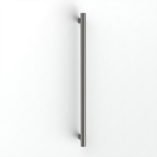 Avenir Grab Vertical Heated Towel Rail Gunmetal