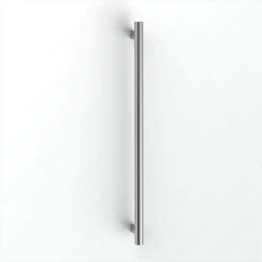 Avenir Grab Vertical Heated Towel Rail Mirror Stainless