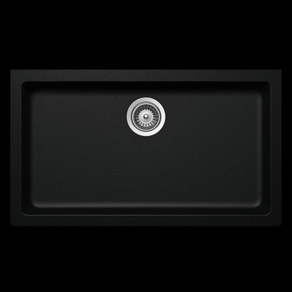 Schock Signus Large Inset Kitchen Sink Black N-100XLYB