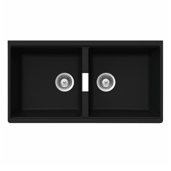 Schock Horizont Undermount Kitchen Sink Black N200UB