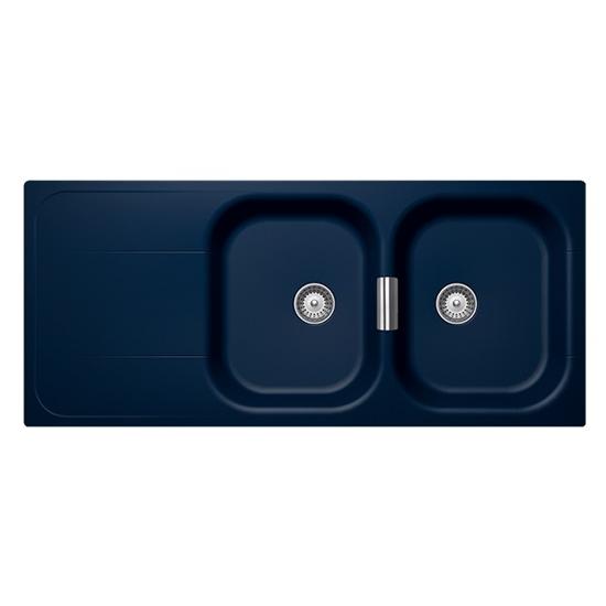 Schock Wembley Double Kitchen Sink Blue WD200MD