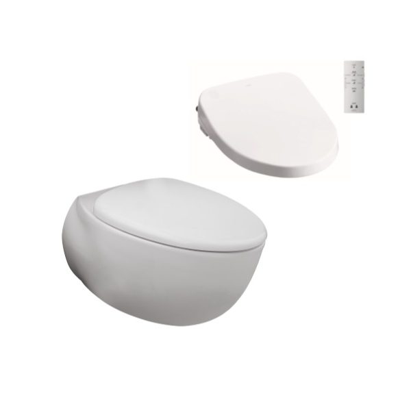 Toto Le Muse Wall Hung Pan + Remote Control Washlet Seat