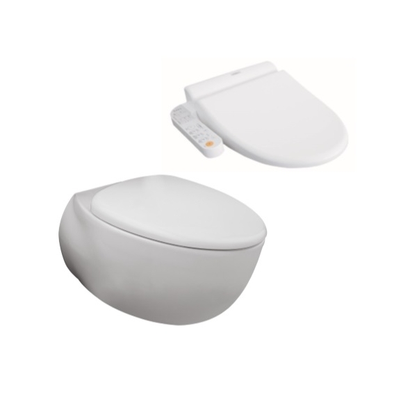 Toto Le Muse Wall Hung Pan + Side Control Washlet Seat