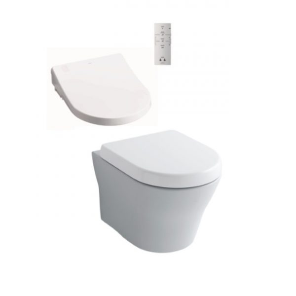 Toto MH Wall Hung + Remote Control Washlet Seat