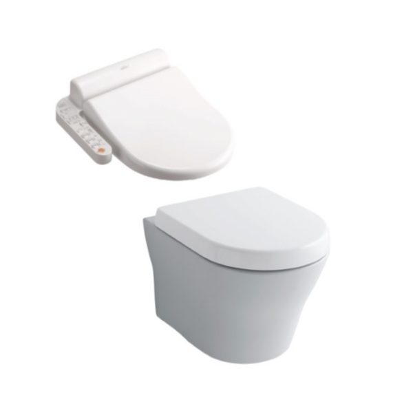 Toto MH Wall Hung + Side Control Washlet Seat