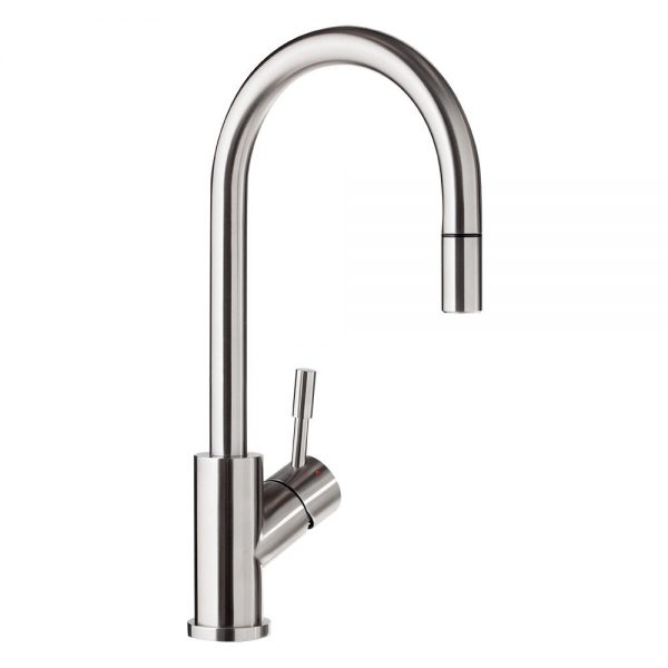 Umbrella Pullout Kitchen Mixer Brushed Steel 9254W0LC