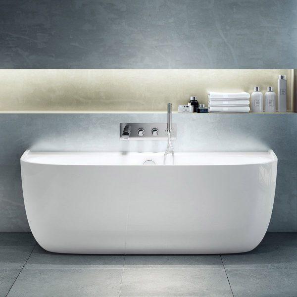 Victoria + Albert Eldon Back to Wall Freestanding Bath 1