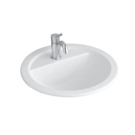 Villeroy and Boch Round Inset Basin with Tap Shelf 51404001