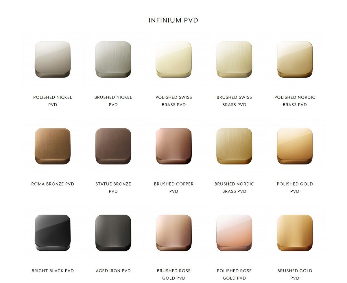 Brodware Infinium PVD Colour Tapware Finishes