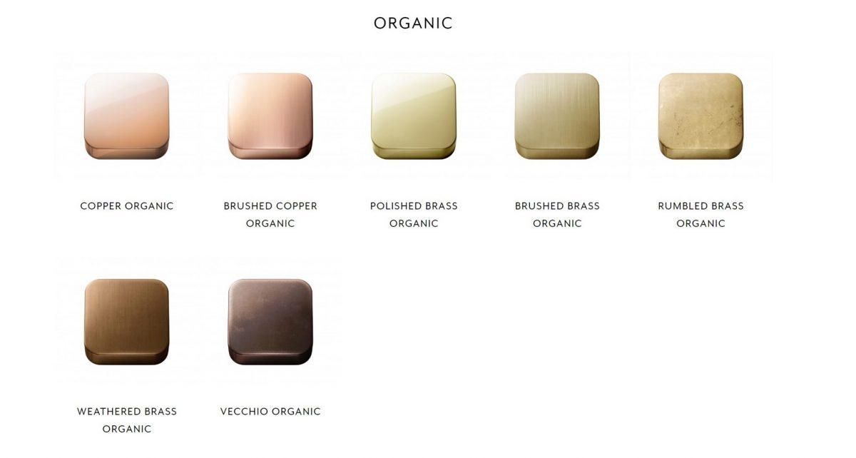 Brodware Organic Colour Tapware Finishes
