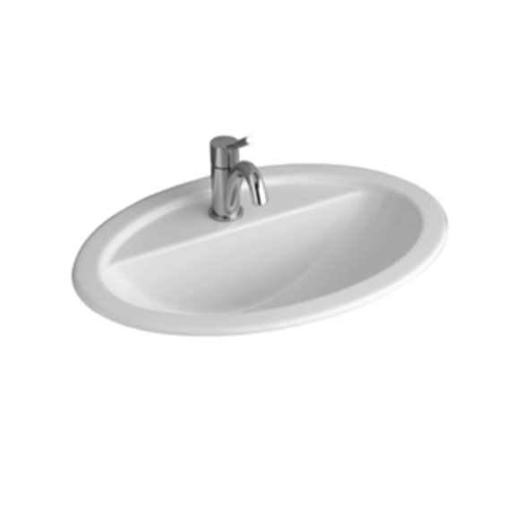 Loop Oval Inset Basin with Tapshelf