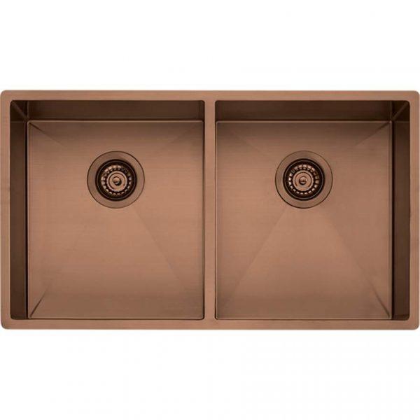 Oliveri Spectra Double Bowl Copper Sink SB63CU
