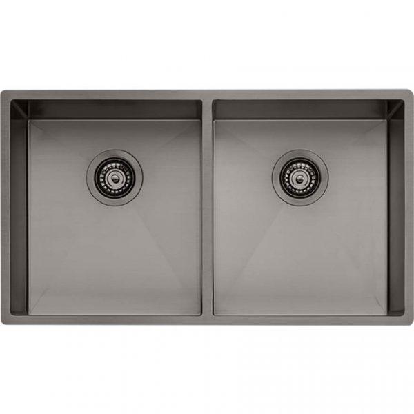 Oliveri Spectra Double Bowl Gunmetal Sink SB63GM