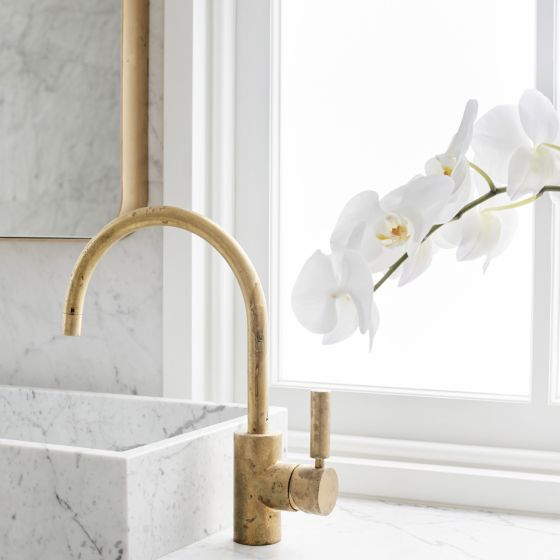 Astra Walker Icon Kitchen Mixer Eco Brass