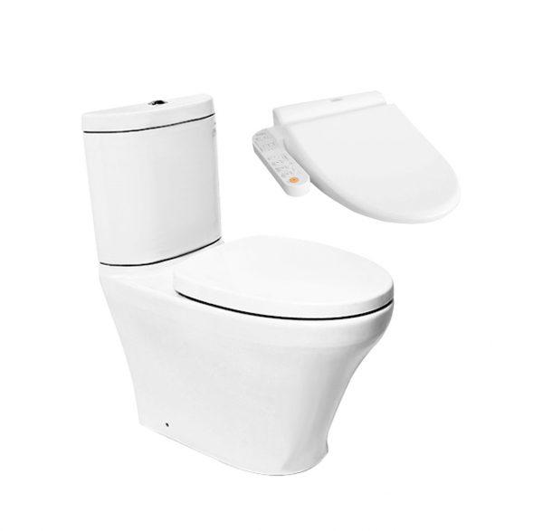 Toto Close Coupled Toilet + Side Washlet