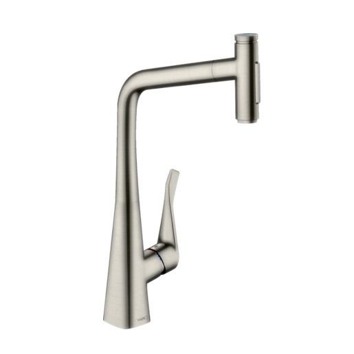 Hansgrohe Metris Select M71 Pull-out Kitchen Mixer sBox SS 73816803