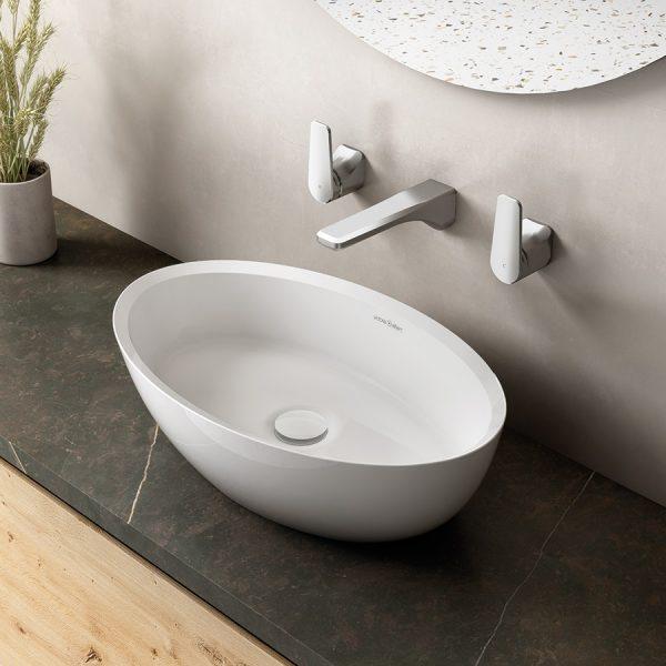 Victoria + Albert Corvara 55 Countertop Basin Gloss white